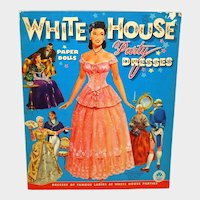 1961 While House Paper Dolls UNCUT Merrill