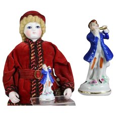 Antique German Bisque Mini Figurine for French Fashion Doll!