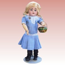 Victorian Tin Litho Doll Basket Darling Size (opens)