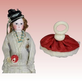 French Fashion Doll Red Powder Puff!