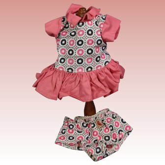 Vintage Tagged Tiny Terri Lee Doll Outfit! Dress w Panties