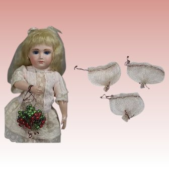 Antique Small Doll Sized Metallic Mesh Bags for Doll Accessories!