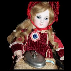 Antique Doll German Metal Hot Water Bottle