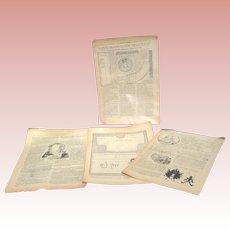 Three Bleuette Orig Semaine de Suzette Patterns 1920s