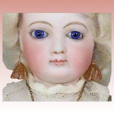 Antique Venetian Glass Flowers Doll Amber Earrings - Beautiful!