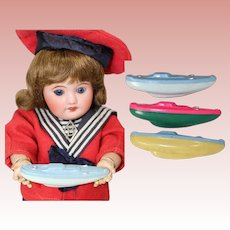 1940s Darling Doll Sized Mini Vintage Boat Rattle Toys!