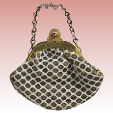 Darling Vintage Small Doll Purse w Clasp and Chain