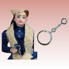 French Fashion Doll Sterling Silver Magnifying Glass! Beautiful!