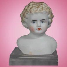 Antique German Parian Bisque Doll Shoulder Head!