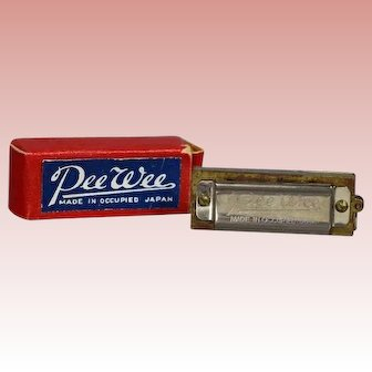 Darling Vintage Old Store Stock Doll Harmonica in Orig Box!