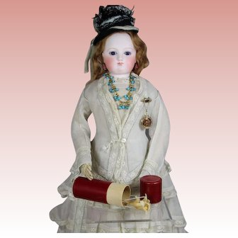 Wonderful! Antique Red Box for French Fashion Doll Accessories!