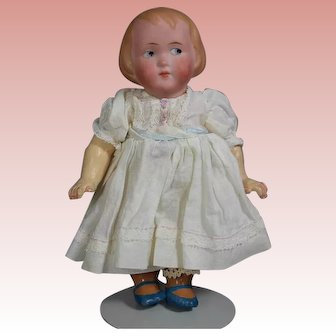 Cute! Antique German Bisque Googlie Eye Doll Recknagel!