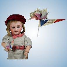 """Vintage 1940s French Bleuette Doll Size Flower Pin """"Le Bleuet"""""""