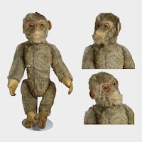 """1930s Mohair 10"""" Schuco Yes-No Monkey """"Tricky"""" Darling!"""
