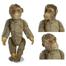 "1930s Mohair 10"" Schuco Yes-No Monkey ""Tricky"" Darling!"