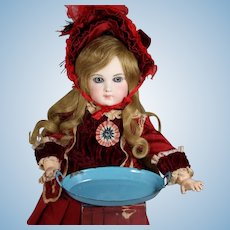 Paris Find! Antique French Doll Blue Enamel Casserole Dish for Dolly's Kitchen!