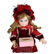 "Darling Antique French Box Says ""BEBE"" For Your Doll Accessories!"