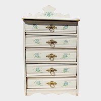 Beautiful Hand Painted Antique Child Doll Chest of Drawers Dresser!