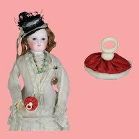 French Fashion Doll Red Powder Puff!