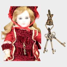 Lovely Doll Chatelaine Mini Keys w Beautiful Hand!