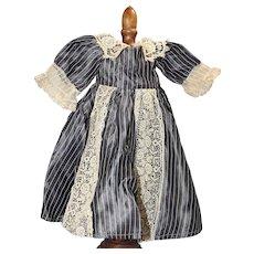 "Lovely! Antique Taffeta Bisque Doll Dress 14-15"""