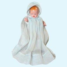 Nancy Ann Storybook NASB Doll Hush-A-Bye Starfish Hands - Orig Dress & Bonnet!