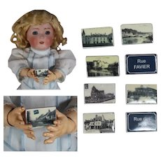 Darling Mini French Bisque Feves Favors Doll Sized Postcards!