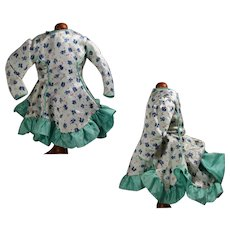 """Lovely Vintage Dress for Bisque Doll w Bustle! 16"""""""