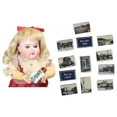 Darling Mini French Bisque Feves Favors Doll Sized Postcards! LAST ONES!