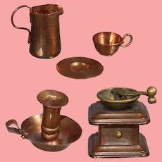 Darling Vintage Copper Miniatures for your Doll!