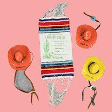 Darling Vintage Arizona Doll Sized Cowboy Hats Souvenirs!