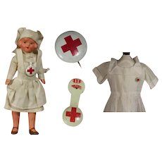 2 Vintage Red Cross Pins for your Nurse Doll!