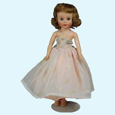 """Vintage 10.5"""" American Character TONI (Sweet Sue Sophisticate) Doll w Dress, Girdle, + Shoes"""