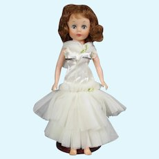 """Vintage American Character Toni Sweet Sue Sophisticate 10.5"""" Doll in White Formal Bride"""