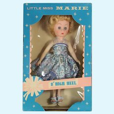 """Vintage Woolworth's 8"""" Vinyl Teen Fashion Doll """"Little Miss Marie"""" in Box!"""