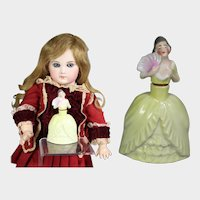 Antique German Mini Half Doll Perfume Dresser Box!