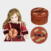 Antique French Fashion Doll Hat Box Candy Container!