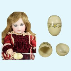 Lovely Antique Mini Doll Sized Painted Celluloid Egg!