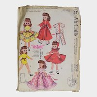 Vintage 1958 UNCUT Betsy McCall Doll Clothes Clothing Pattern!