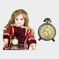 Darling Vintage Doll Sized Alarm Clock Pencil Sharpener!