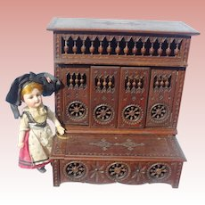 Rare Matching Set Antique Brittany Lit Clos Traditional Cupboard Box  Bed and Blanket Chest