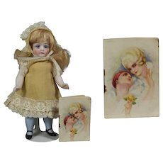 Antique 1927 Mini Doll Sized Calendar Almanac Book!