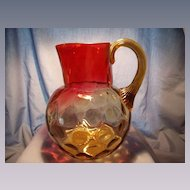 Phoenix Amberina Water Pitcher