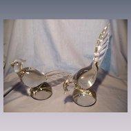 Pair Tiffin Glass  Pheasants