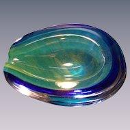 Daum Horse Shoe Geode Bowl