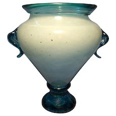 Young & Constantin Art Glass Urn Vase