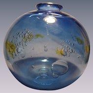 Signed Blown Bubble Cluster Vase