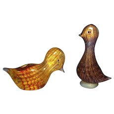 Pair of Ferro Murano Birds - Red Tag Sale Item