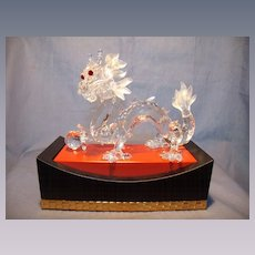 "Swarovski ""Fabulous Creatures"" Dragon with Stand"