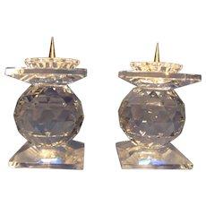 Pair Swarovski Pin style Candleholder
